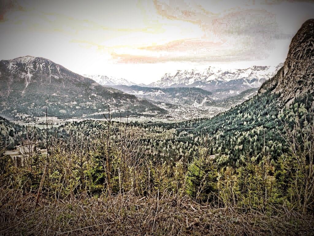 Blick von den Ammergauer Alpen