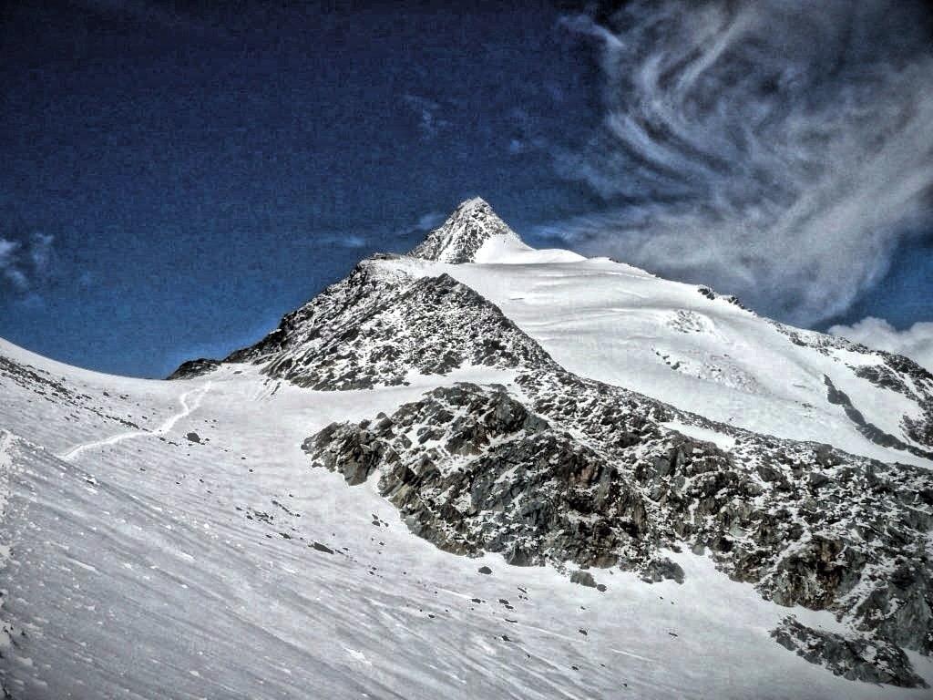 Aufstiegsroute zum Großglockner bei bestem Wetter