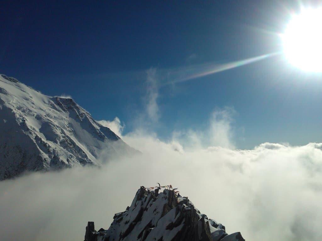 Mont Blanc Berg: Atemberaubendes Bergmassiv