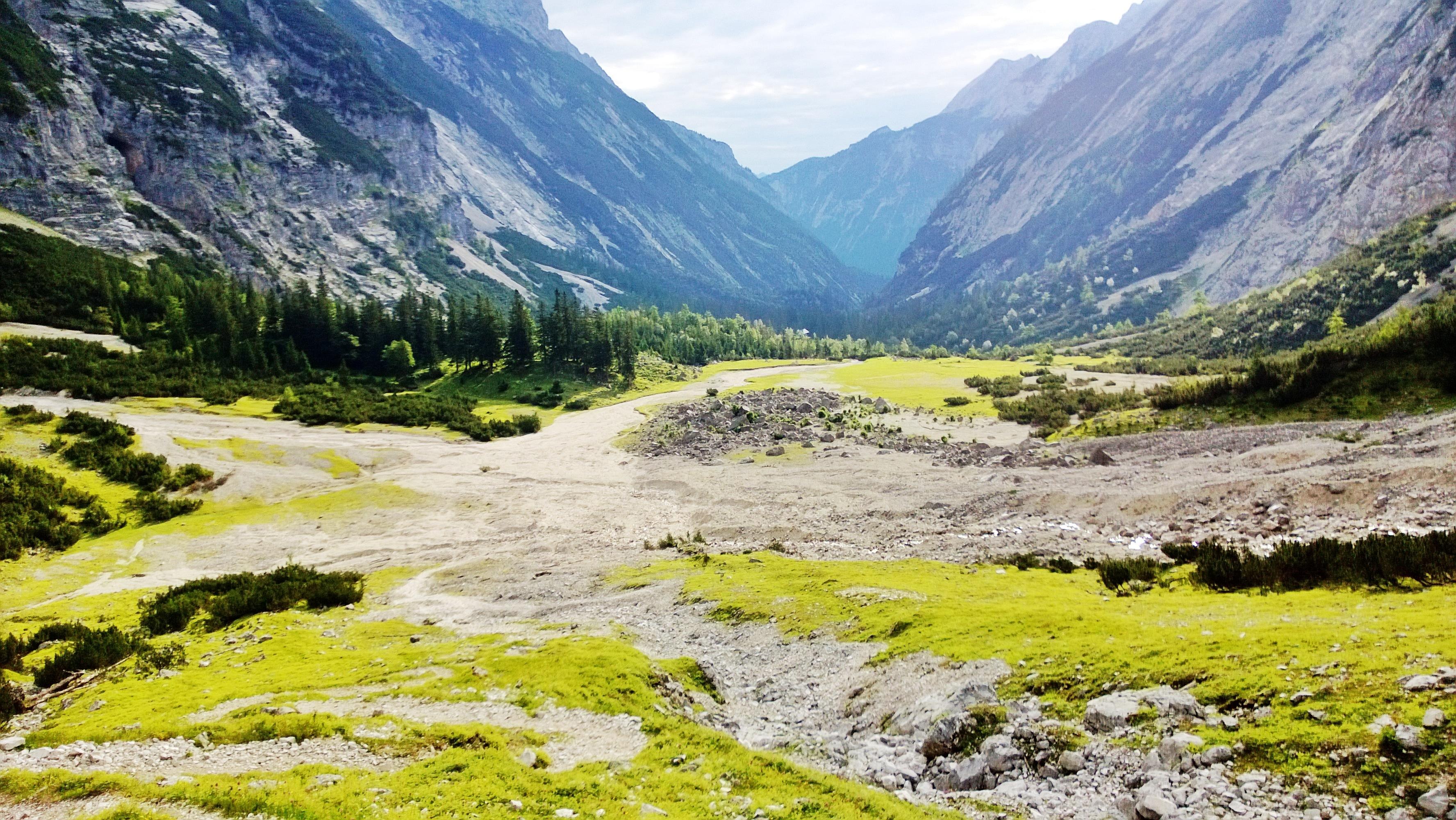Blick in das Reintal am Fuße der Zugspitze