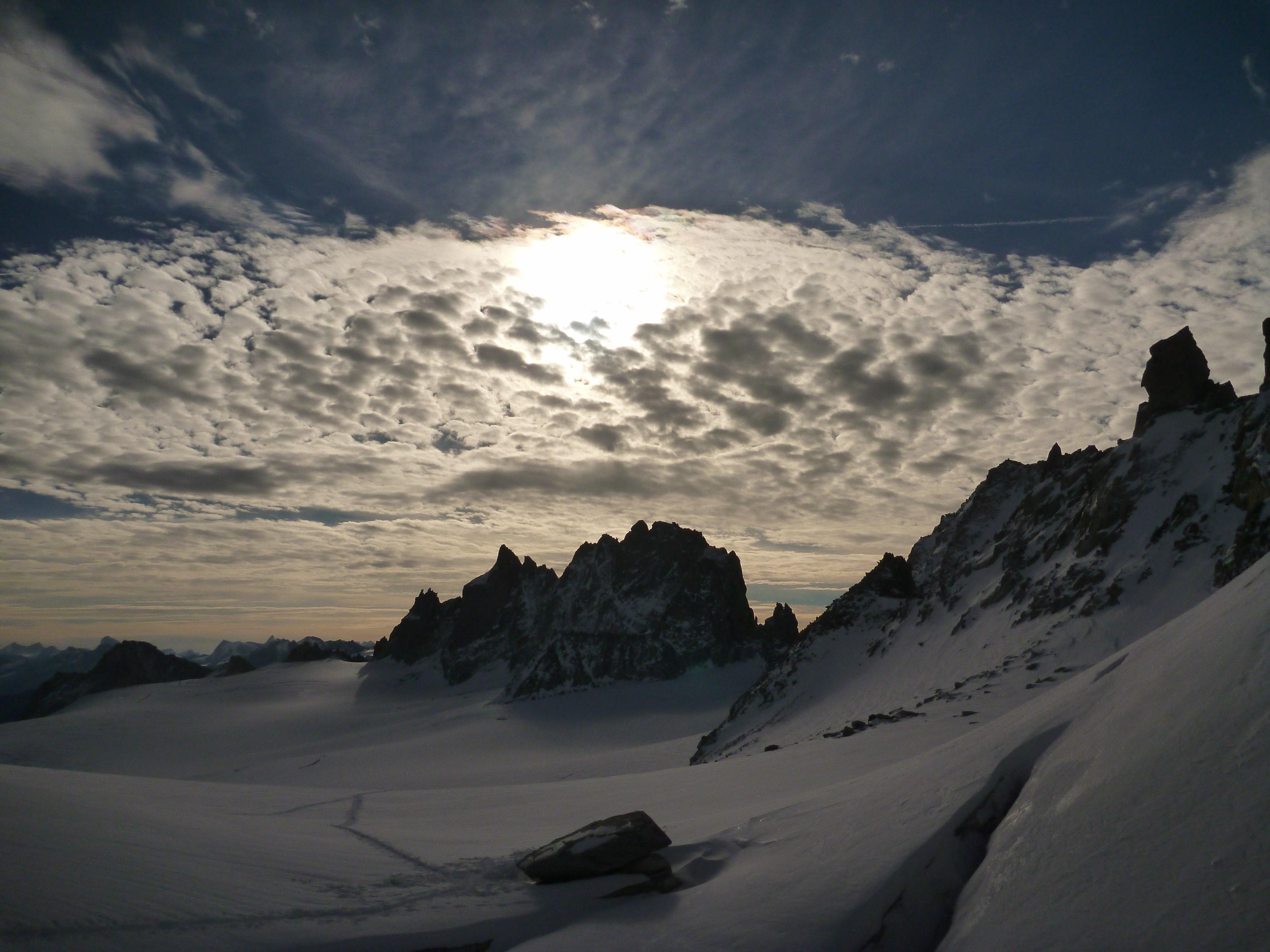 Mont Blanc: Auf dem Trientgletscher