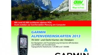DAV Alpenvereinskarten für Garmin GPS