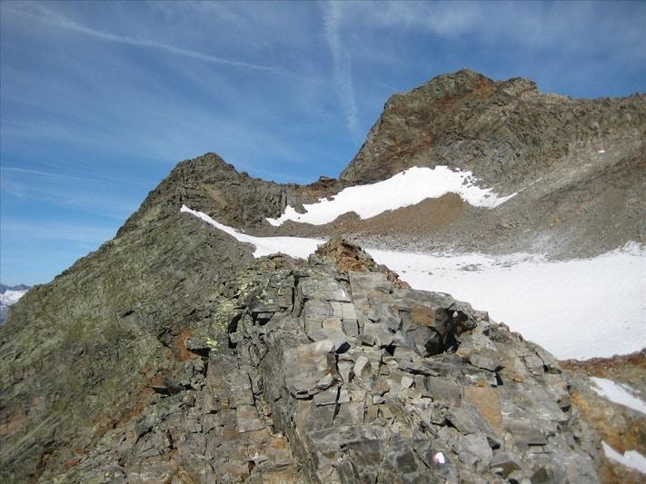Hiking zum Habicht. Ein sehr großer Geröllhaufen mit Traumpanorama
