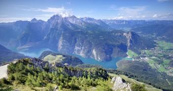 Gotzenalm in den Berchtesgadern Alpen mit Blick auf den Königssee