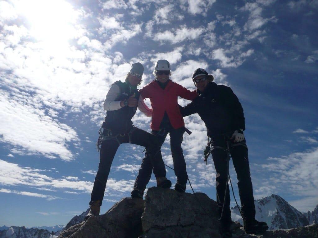 Bergsteigen in den Alpen: Mont Blanc Massiv