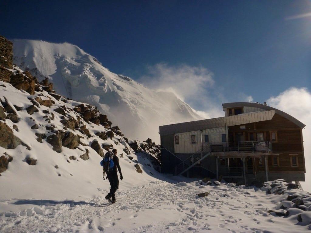 Hütte am Mont Blanc Massiv