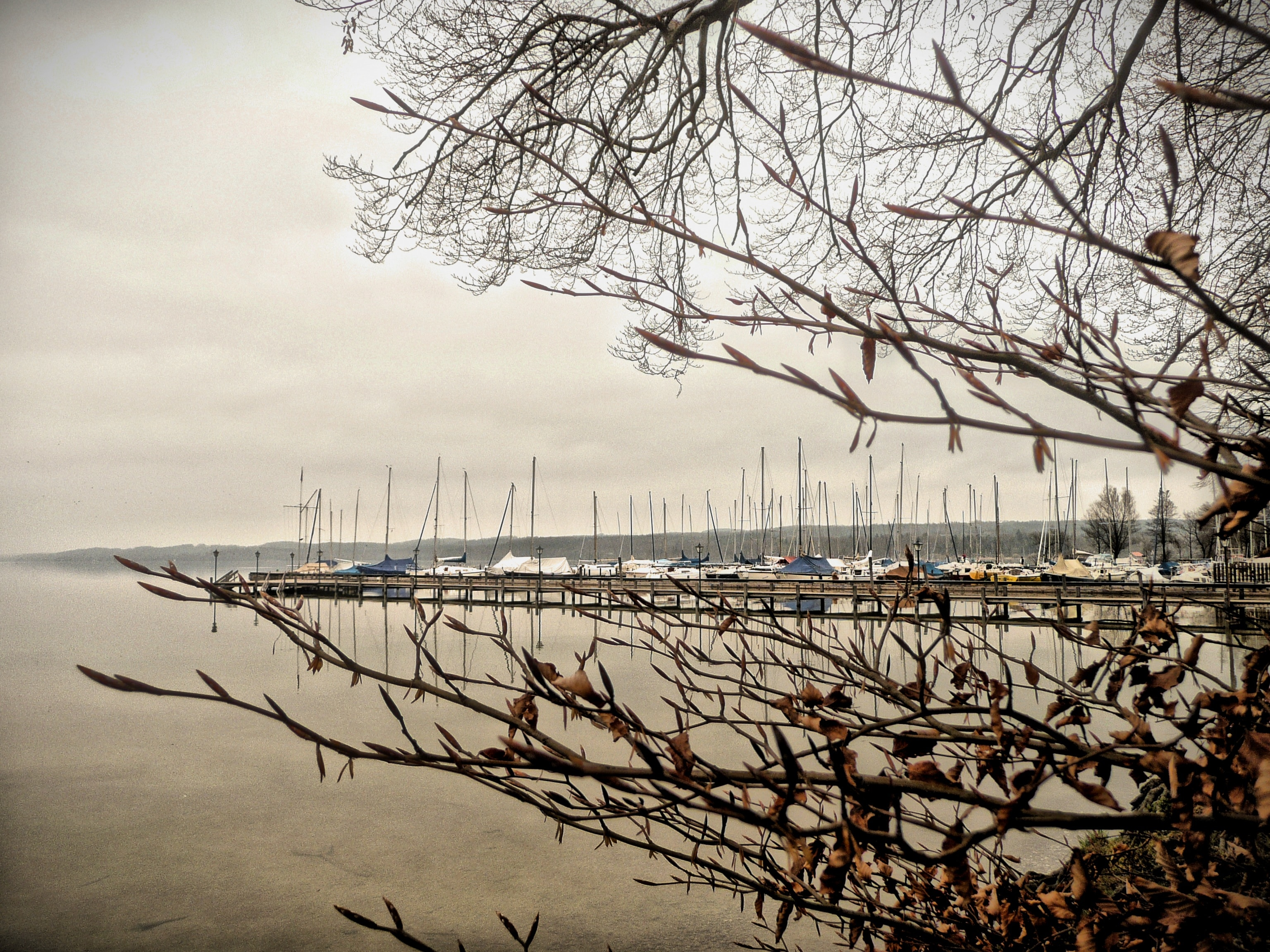 Blick auf den Starnberger See bei Seeshaupt