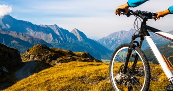 Mountainbike in den Alpen
