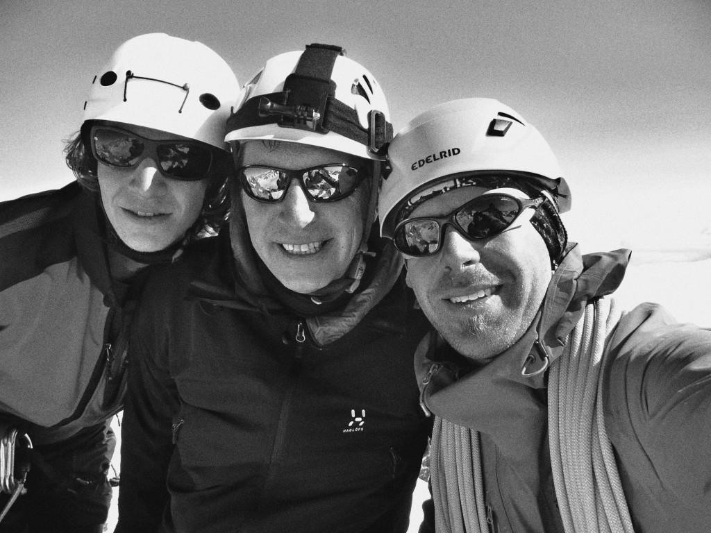 Stefan Biggel (rechts) am Mont Blanc Massiv (2013) - einer der Bergführer Bergschule Alpine Welten - Die Bergführer