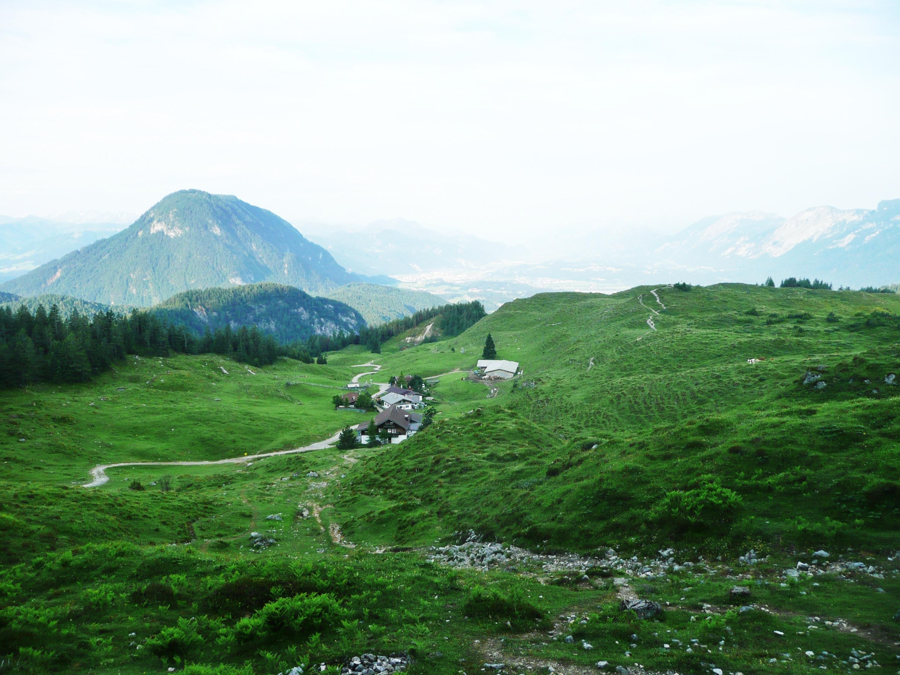 Blick auf die Kaindlalm in Tirol