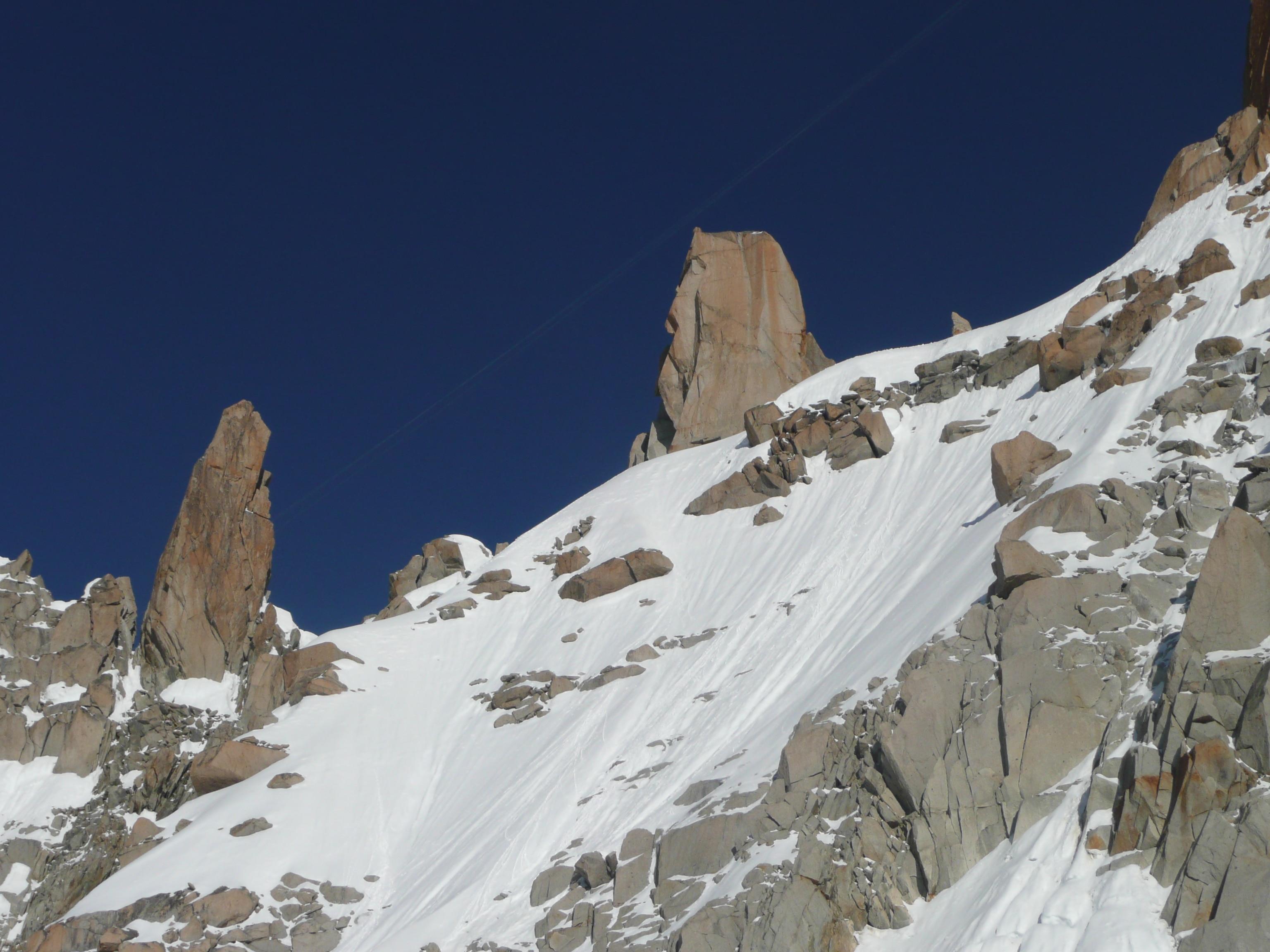 Mont Blanc Normalweg: Die Gletscher bei Argentiere
