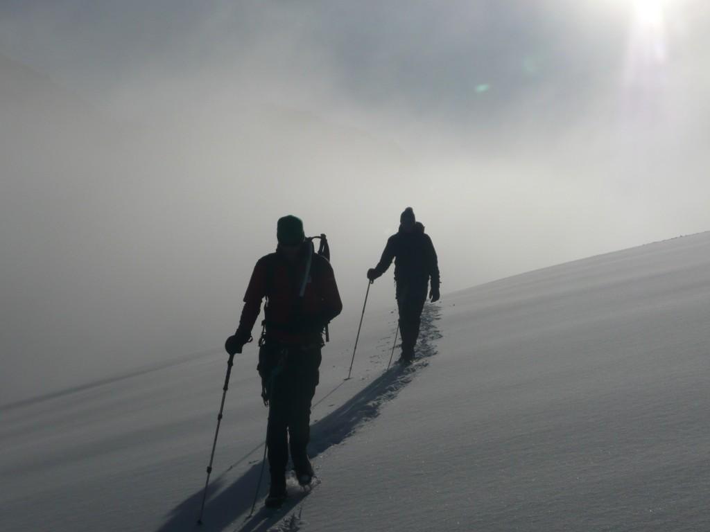 Gletscherquerung unterhalb der Aiguille du Tour