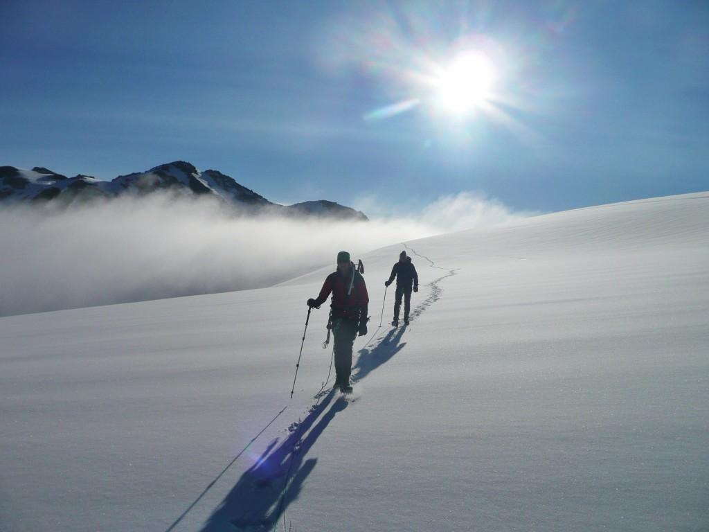 Gletscherquerung im Mont Blanc Massiv