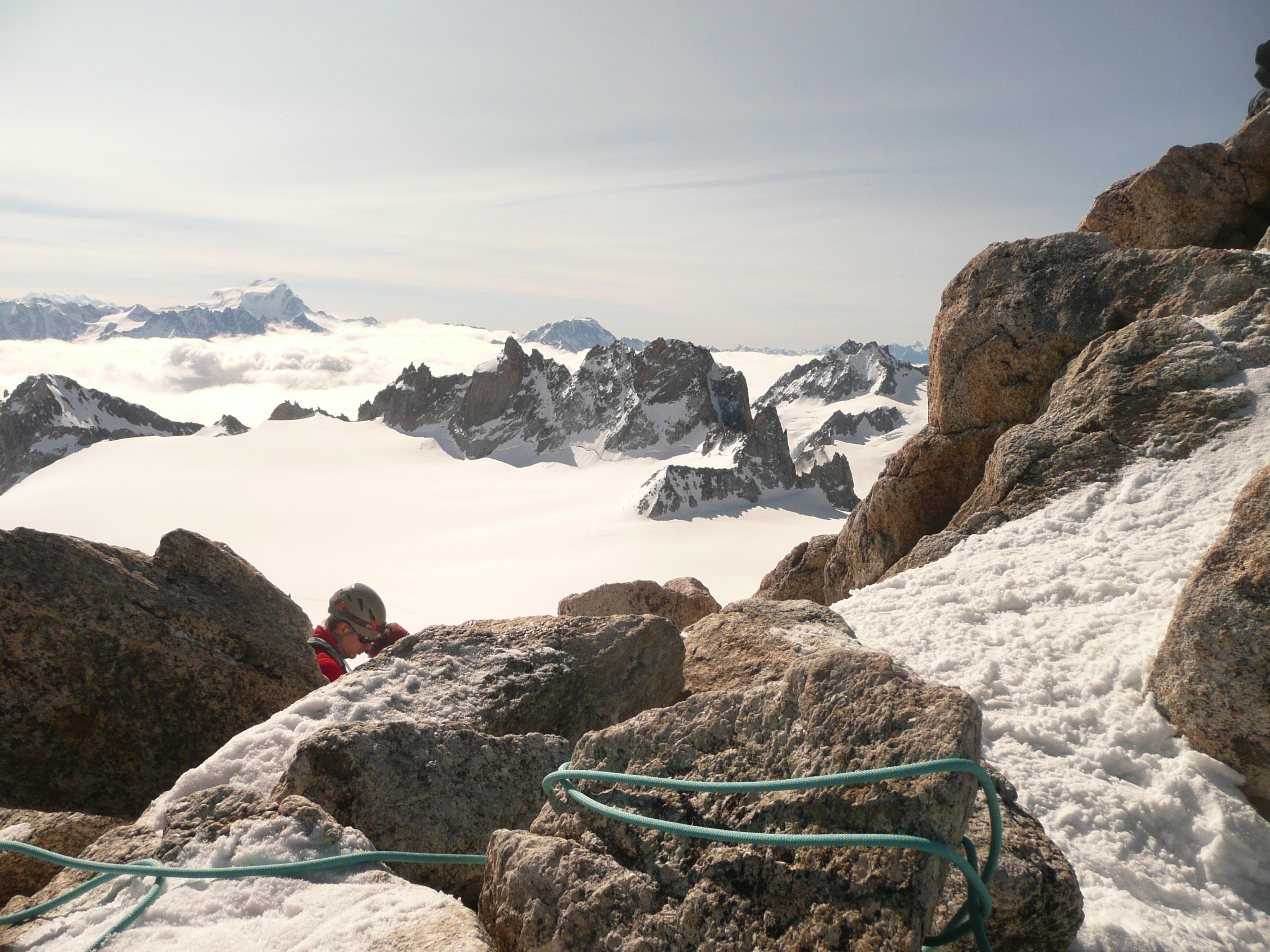Mont Blanc - Sonnenuntergang