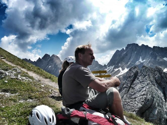 Wegewart Hans Rindler in den Lienzer Dolomiten