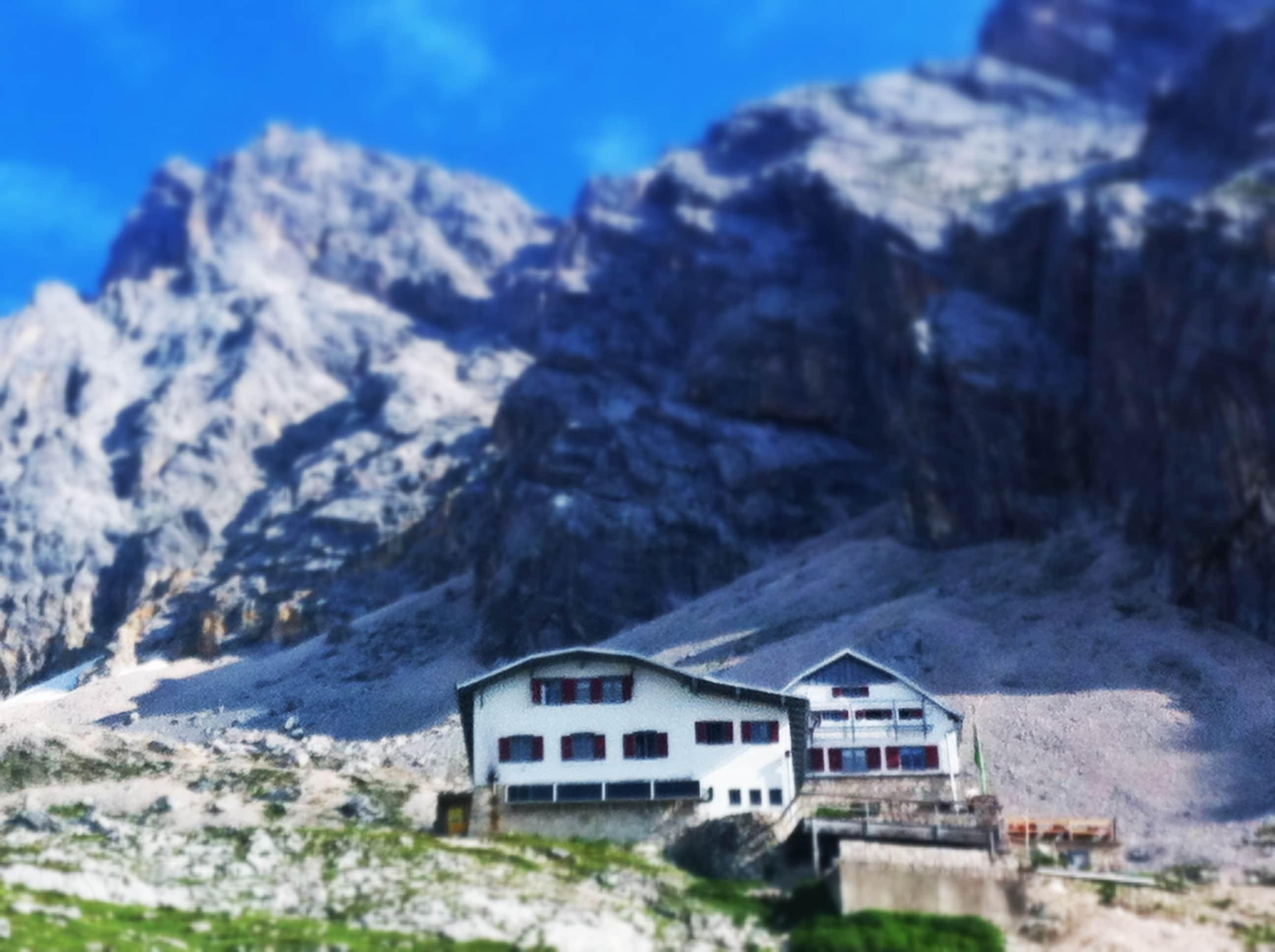 Knorrhütte - gut 700 Höhenmeter oberhalb der Reintalangerhütte