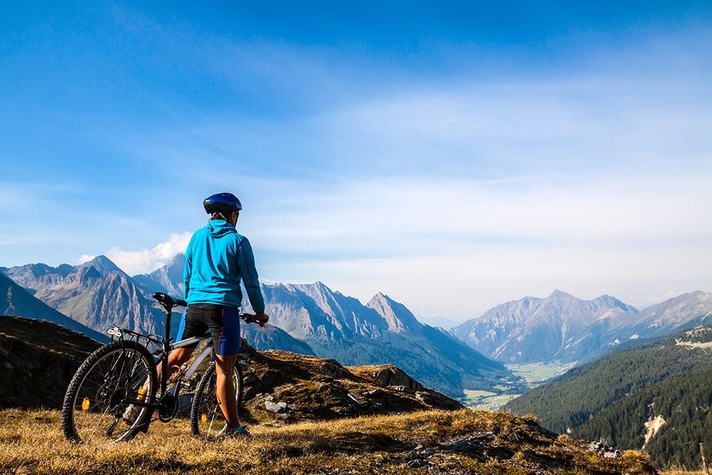 Mountainbiken in Italien am Monte Grappa