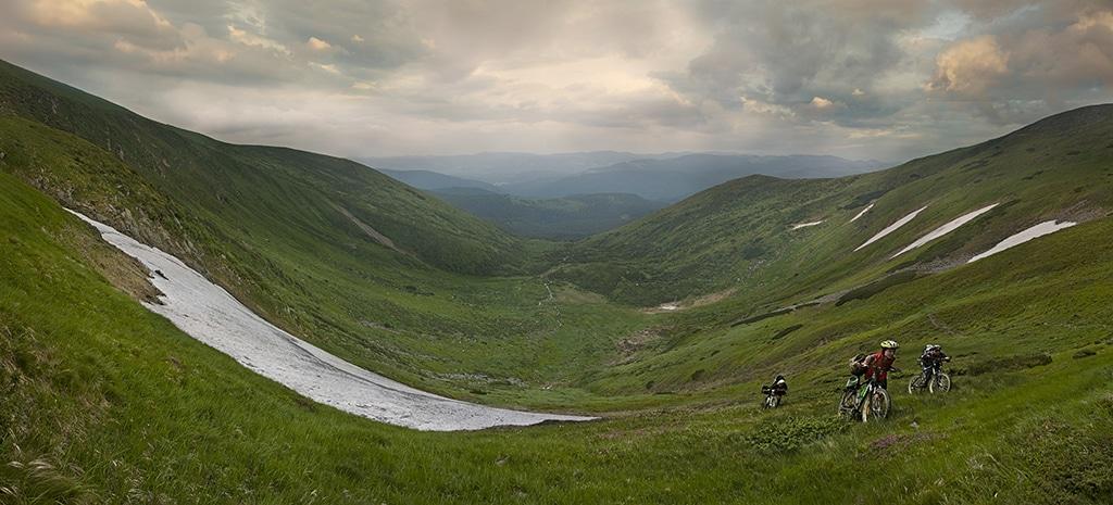Mountainbike in Österreich am Achensee