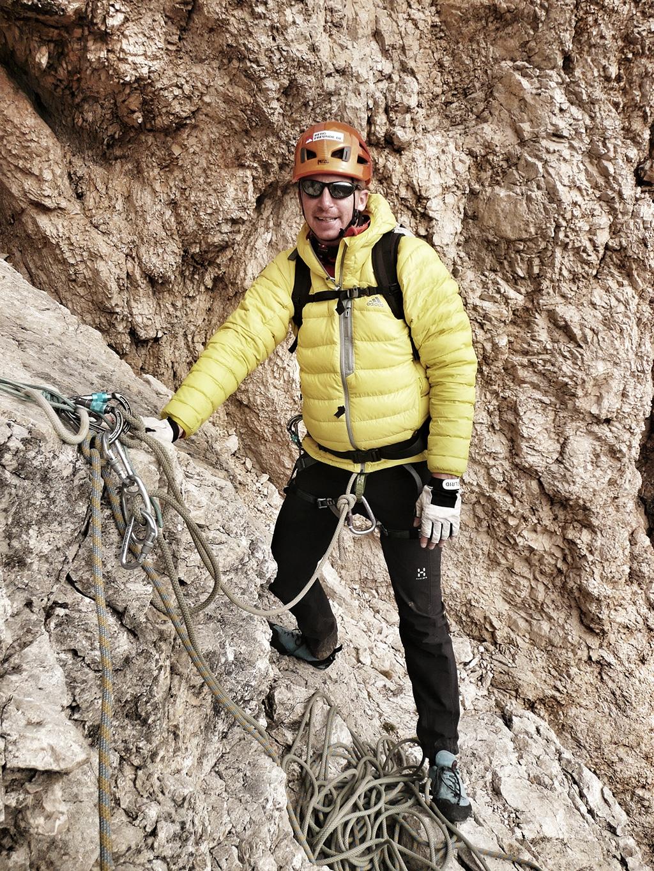 adidas TX Korum Jacket beim Alpinklettern