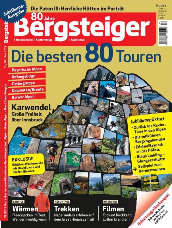 Cover der Jubiläumsausgabe zum 80-jährigen Bestehen des BERGSTEIGER