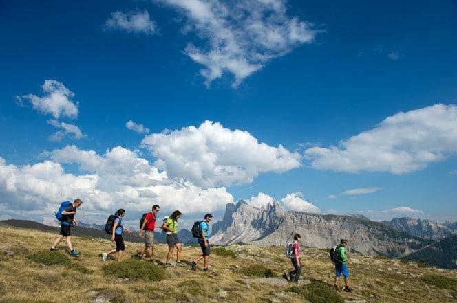 Wandern in den Grödener Dolomiten