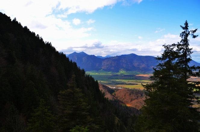 Blick in die Ammergauer Alpen vom Hirschberg aus