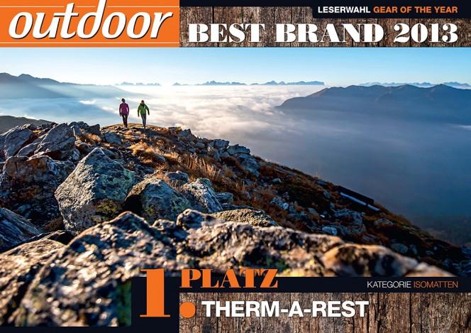 Therm-a-Rest® holt Best Brand Award