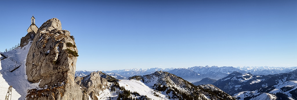 Blick auf den Gipfel des Wendelstein