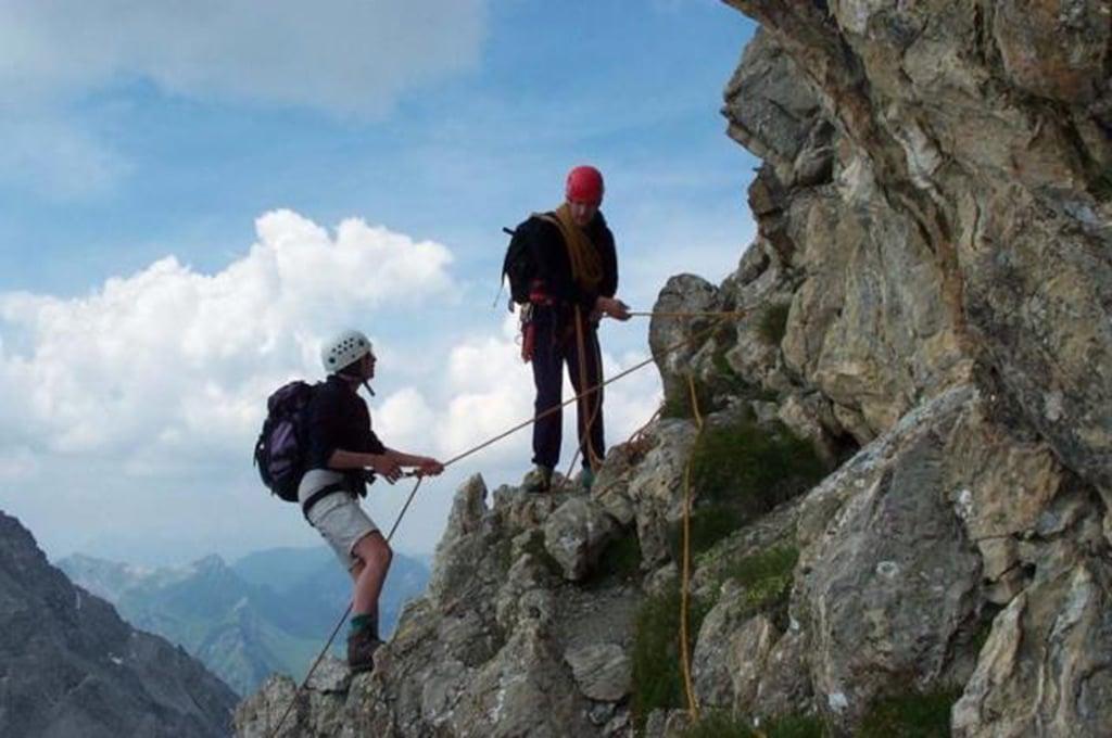 Zimba Klettern
