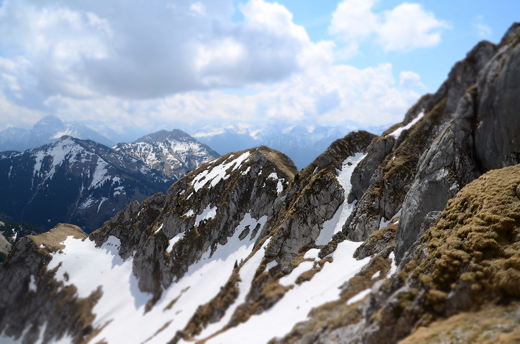 Rot Flüh Tannheimer Tal: Blick vom Gipfel