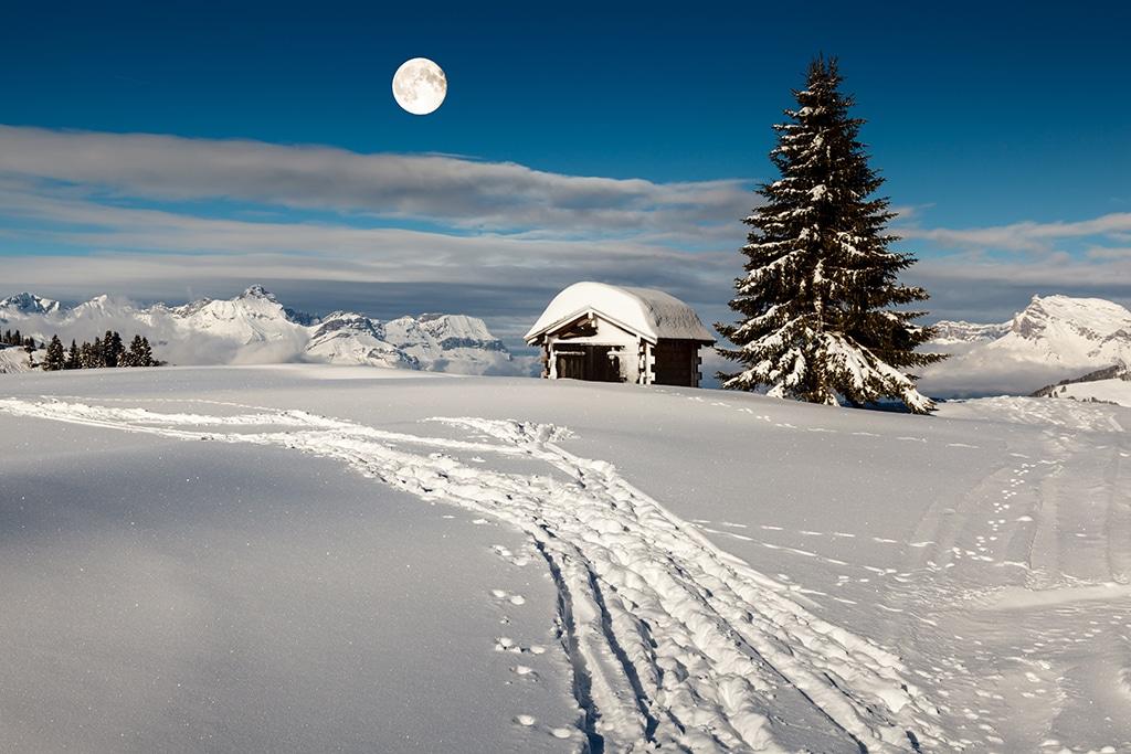 Wandern Kanton Zug im Winter