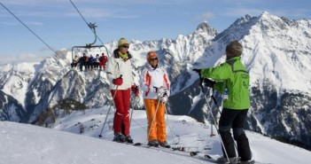 Skikurs im Skigebie Damüls