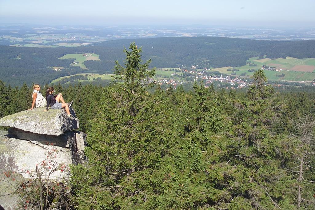 Wandern Fichtelgebirge: Blick vom Ochsenkopf 1.024 Meter