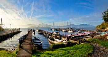 Urlaub Chiemsee: Blick auf das Chiemsee Ufer