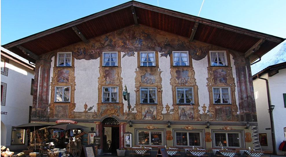 Hausfasade im Karwendel