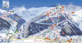 Pistenplan Skigebiet Biberwier