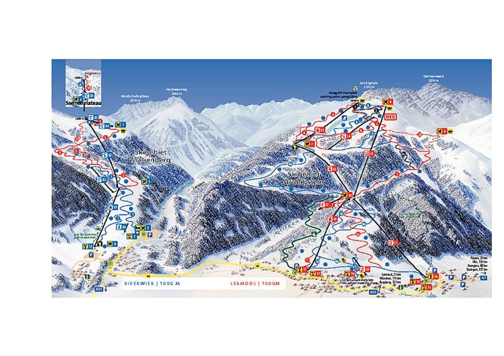 Pistenplan Skigebiet Lermoos