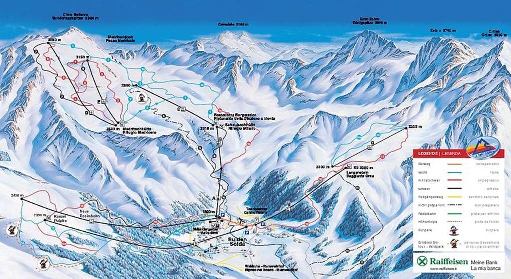 Pistenplan Skigebiet Sulden