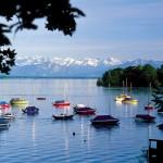 Das Starnberger Fünf Seen Land zwischen München und den Alpen