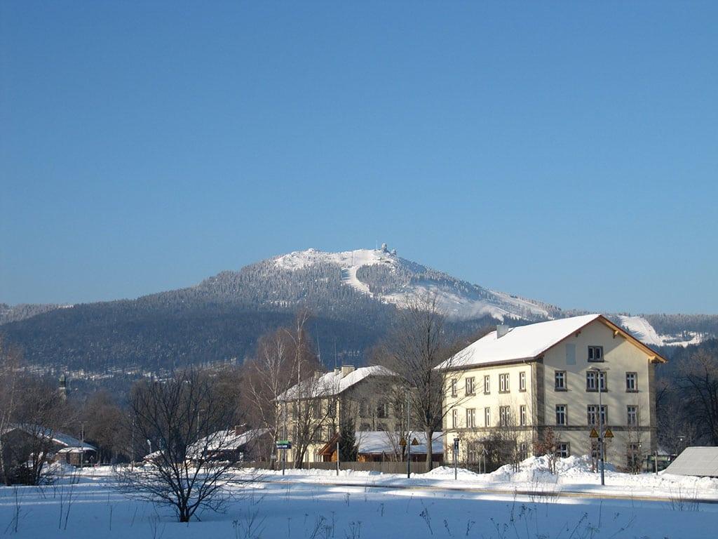 Bayrisch Eisenstein Bahnhof Winter