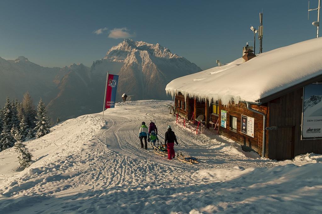 Hochscharzeck Ski: Blick auf den Hirschkaser