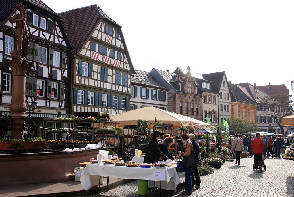 Markt in Bretten im Kraichgau