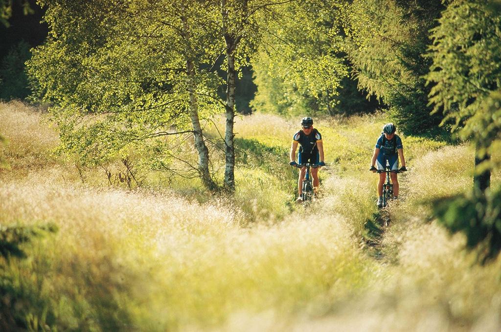 Mountainbiking in den Wiesentälern des Frankenwaldes