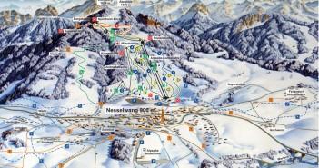 Pistenplan Skigebiet Nesselwang