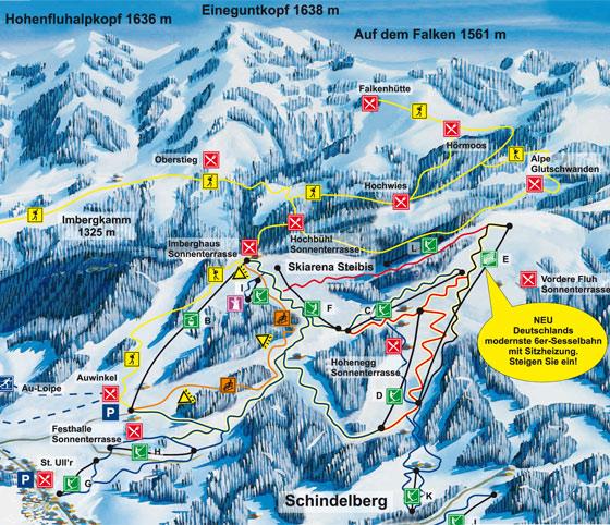 istenplan Skigebiet Schindelberg