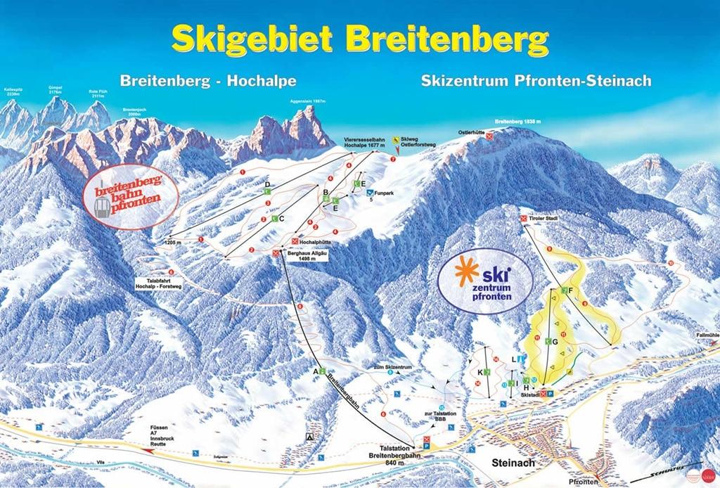 Pistenplan Skizentrum Pfronten