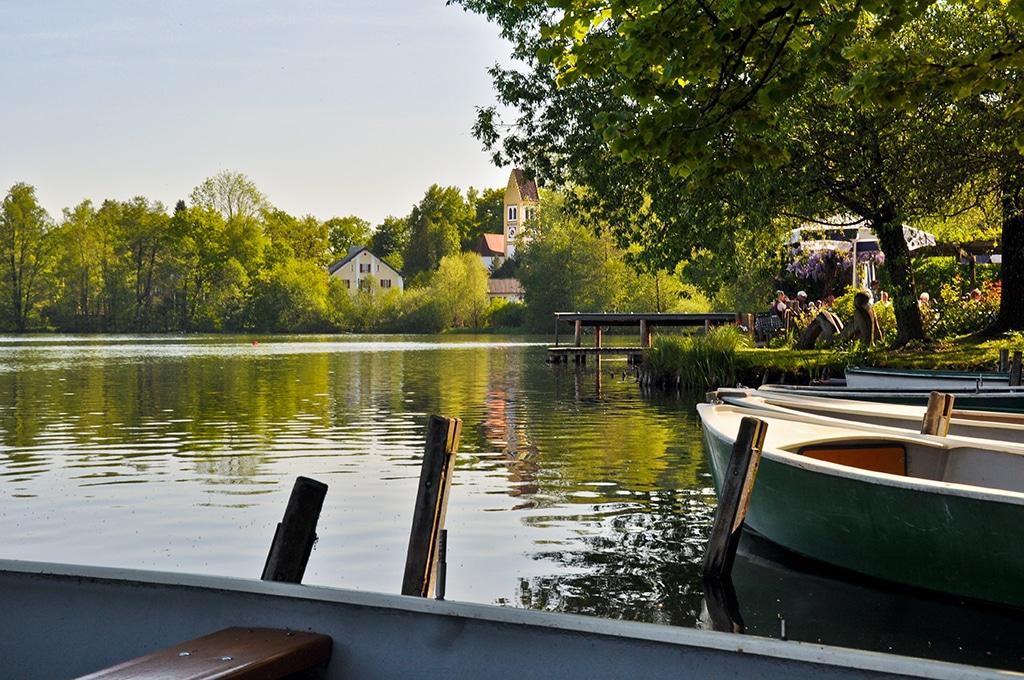 Der Wesslinger See im Fünf Seen Land