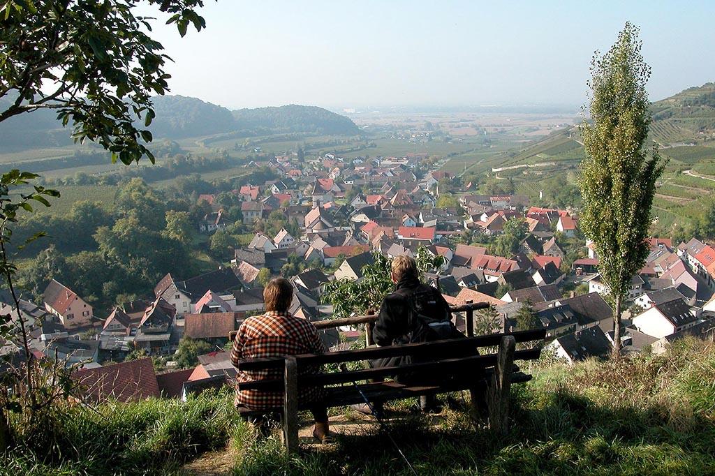 Blick auf Achenkarren im Kaiserstuhl