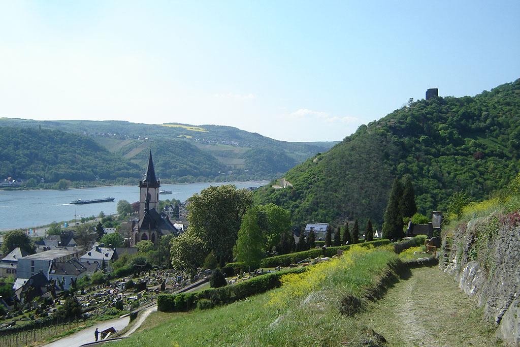 Lorch und Ruine Nollig - Rheinardweg