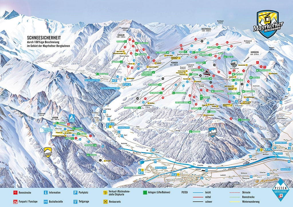 Skigebiet Mayrhofen Pistenplan